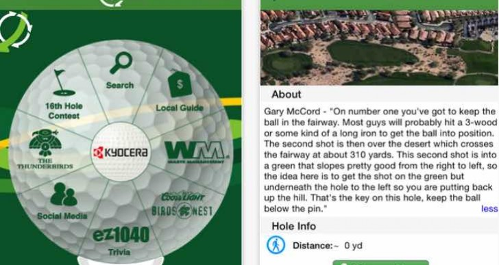 Phoenix Open app with live 2015 leaderboard and tickets