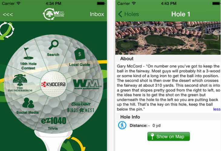 Phoenix Open app for iOS
