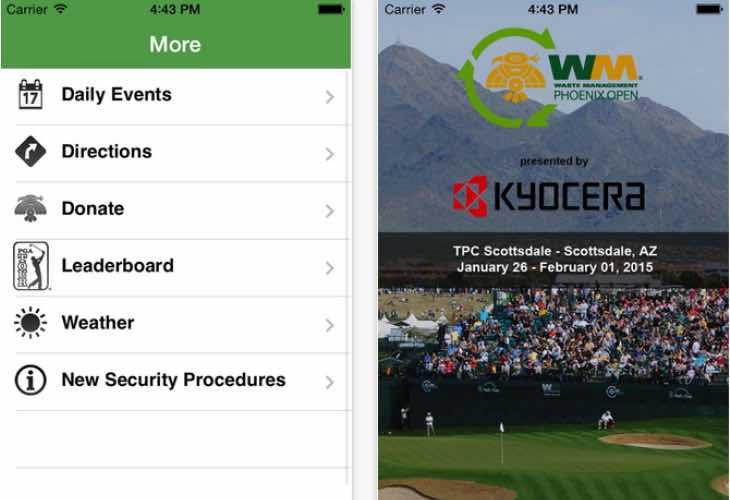 Phoenix Open live 2014 leaderboard