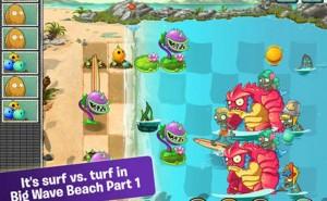 Plants vs Zombies 2 update Big Wave Beach Part 1 live