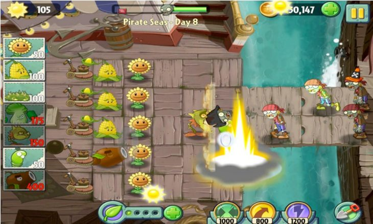 Plants vs. Zombies 2 for Android in deceiving form