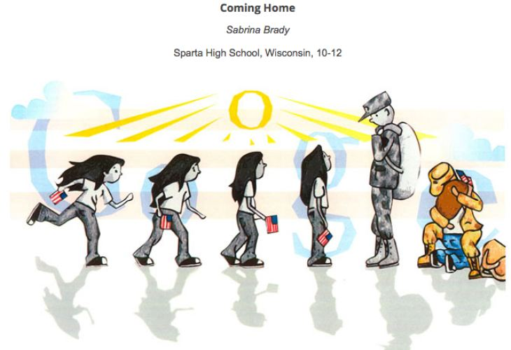 Poignant Doodle 4 Google entry winner detailed in video