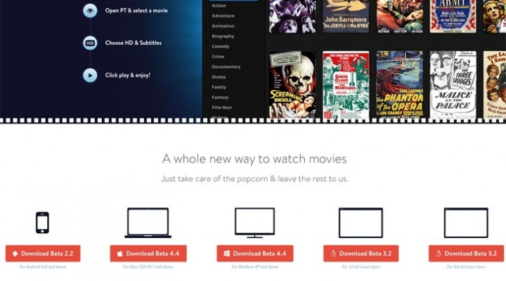 Popcorn Time beta 4.4 for Mac, iOS next