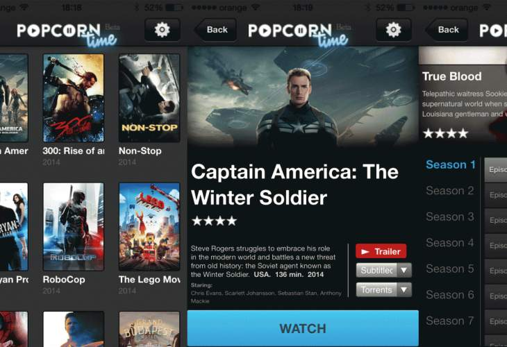 Popcorn Time iPad and iPhone app live