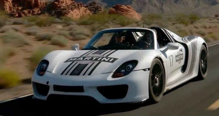 Porsche 918 Spyder power transition captured on video