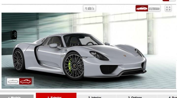 Porsche 918 Spyder options list, still no price