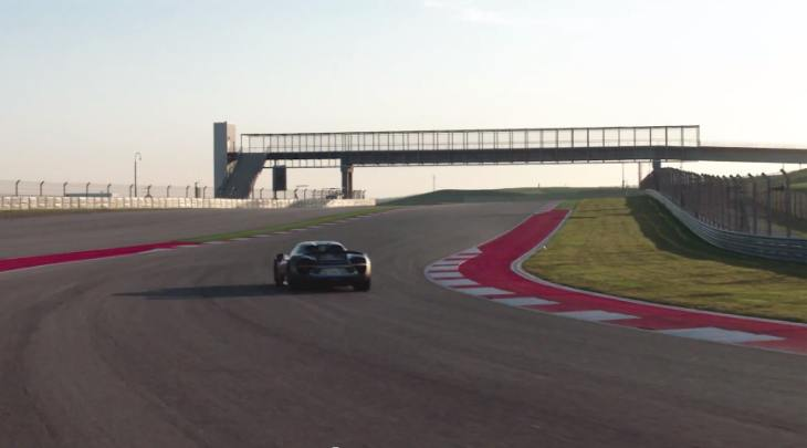Porsche 918 Spyder test on CoTA