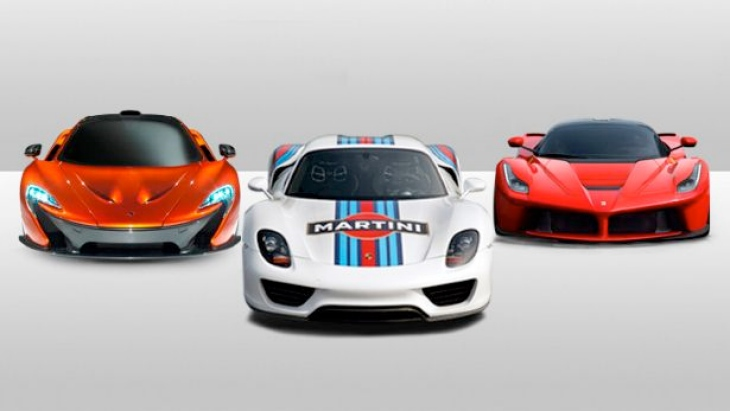 The Porsche 918 Spyder lacks in terms of performance compared to the McLaren P1 and the Ferrari LaFerrari