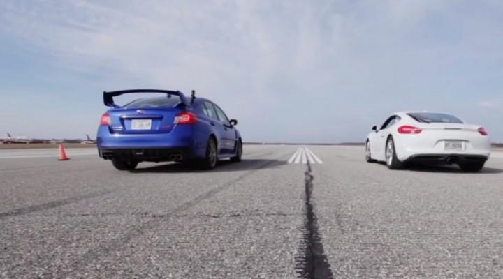Porsche Cayman vs. Subaru WRX STI real-life performance