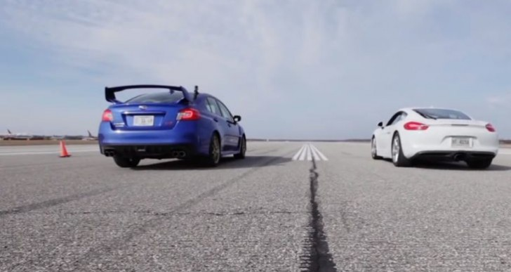 Porsche Cayman vs. Subaru WRX STI real-life performance