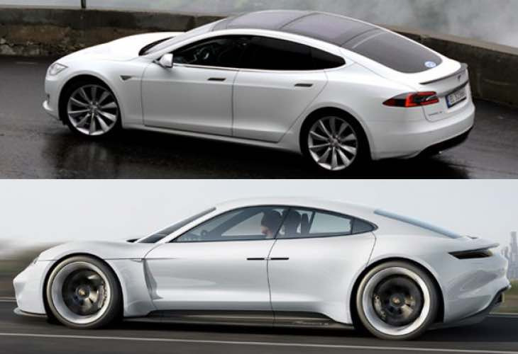 Porsche Mission E preferred over Tesla Model S in poll