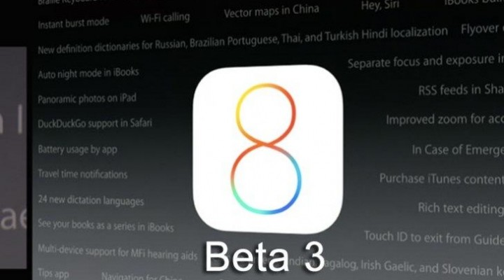 iOS 8 beta 3 live, release notes incoming