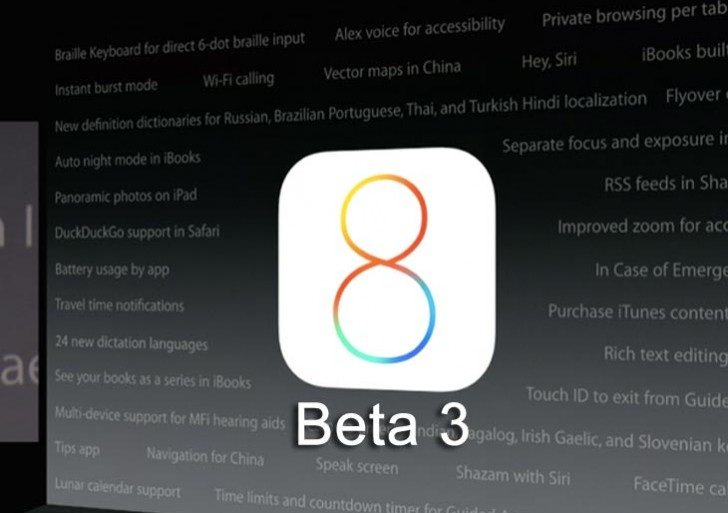 Possible iOS 8 beta 3