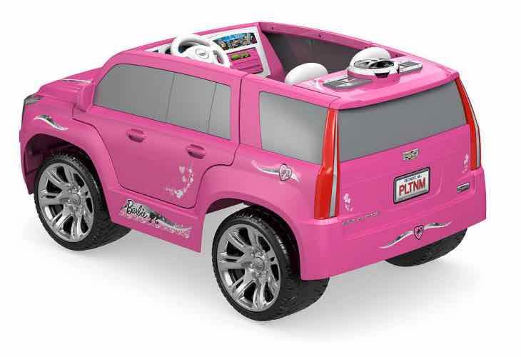 Power Wheels Barbie Cadillac Escalade Ride On features