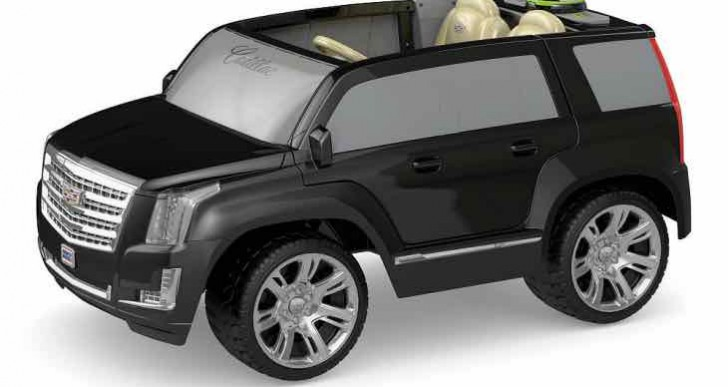 Power Wheels Black, Barbie Cadillac Escalade Ride On features