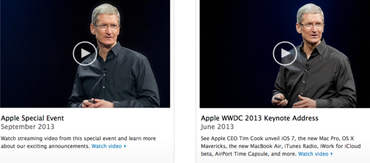 Previous Apple events, although the September one was not streamed live