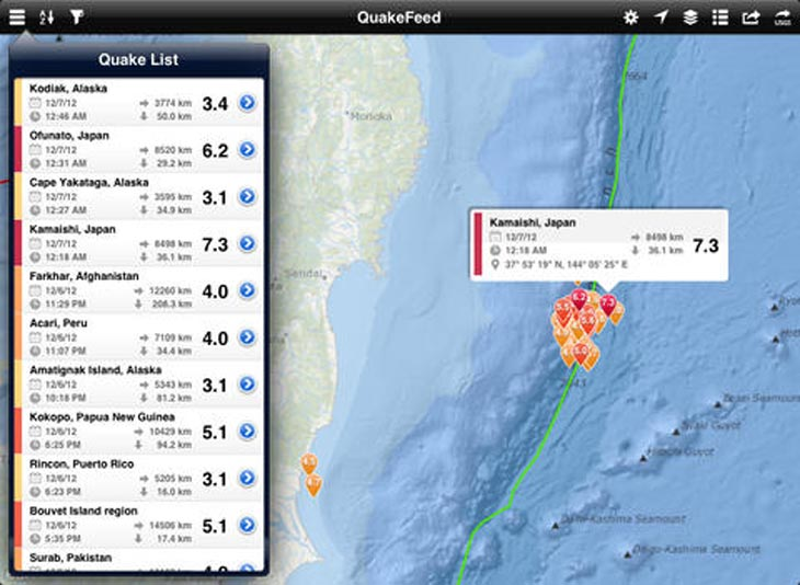 QuakeFeed-Earthquake-Map
