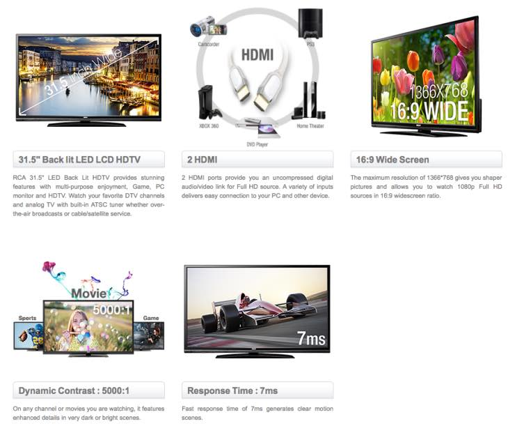 RCA 32-inch LED HDTV LED32G30RQ