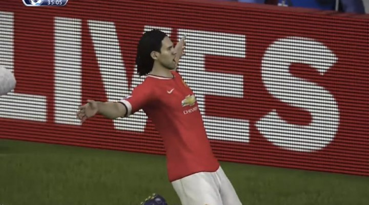 Radamel Falcao Man Utd goals showcase within SIM