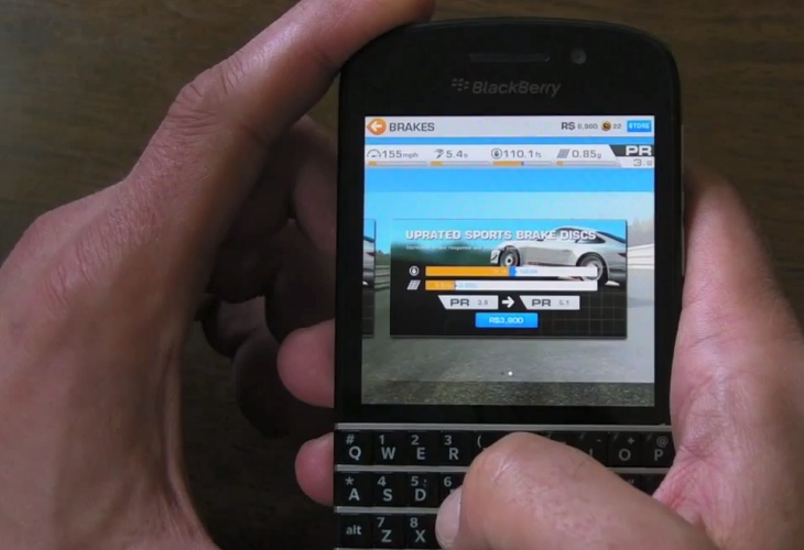 Experience Real Racing 3 on a BlackBerry 10 smartphone