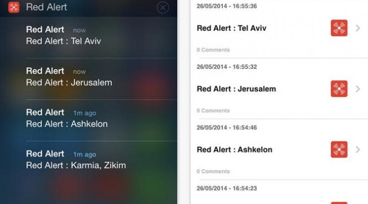 Red Alert Israel app for iOS, Android