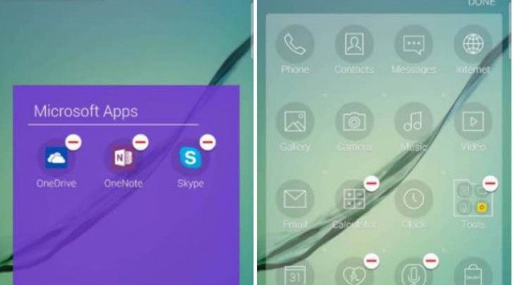 Removing pre-installed Galaxy S6 apps to free space