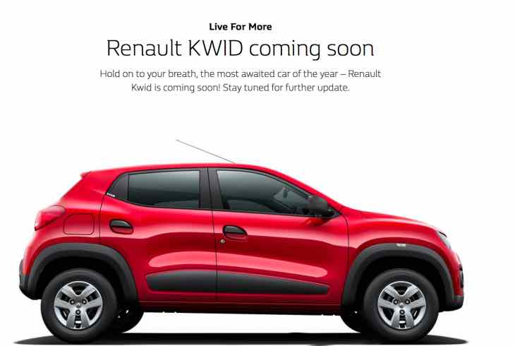 Renault Kwid India launch date announced soon