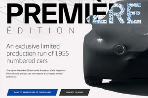 Reserve your Alpine Premier Edition now, choose your preferred number