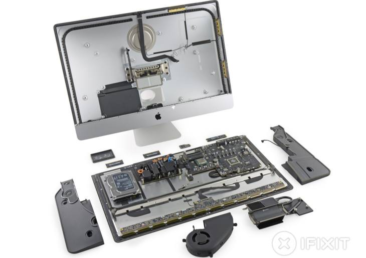 Retina iMac is hard to mend