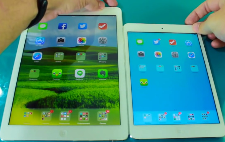 Retina iPad mini vs. iPad Air