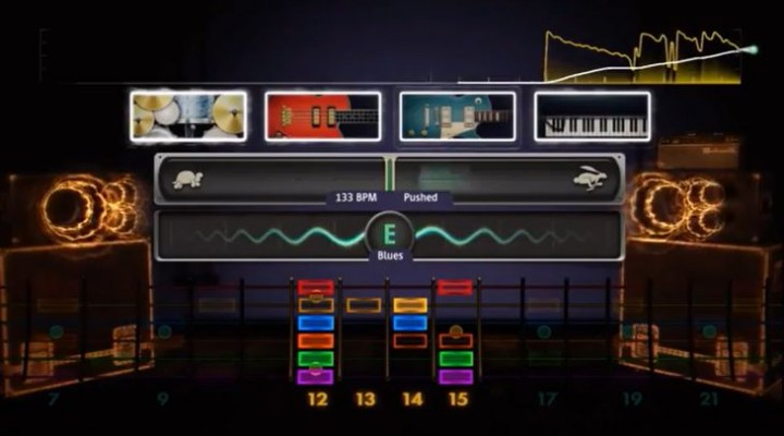 Rocksmith 2014 Session mode in UK video