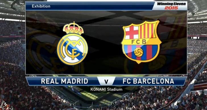 Real Madrid's Ronaldo, Benzema flag PES 2015 AI