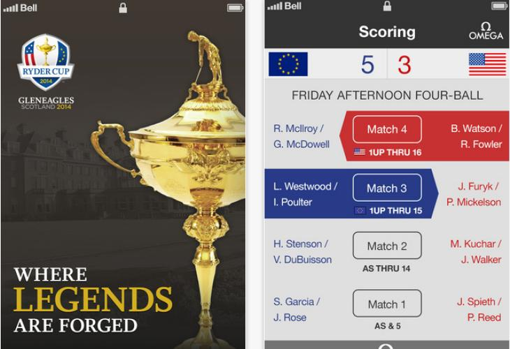 Ryder Cup 2014 standings in iOS