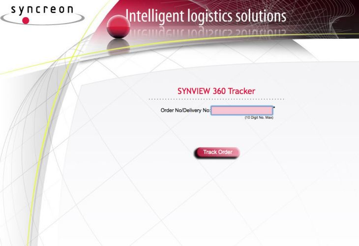 SYNCREON PARCEL DELIVERY tracking in UK for Apple