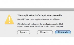 Safari quit unexpectedly error common in 10.10