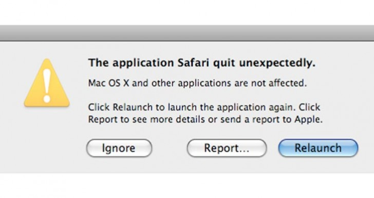 Safari quit unexpectedly error common in 10.10