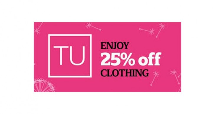 Sainsbury's Tu 25% off clothing sale live, ends Nov 2