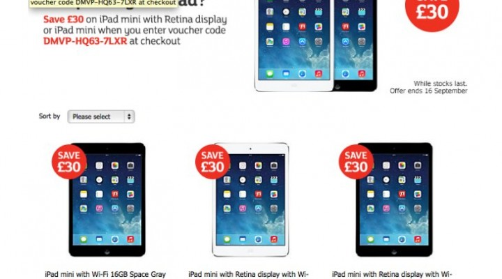 Sainsbury's entice iPad on August UK Bank Holiday
