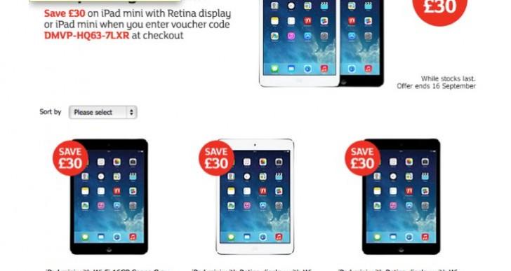 Sainsbury's entice iPad on August UK Bank Holiday