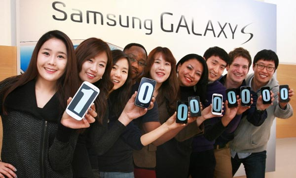 Samsung GALAXY S sales figures pass 100m