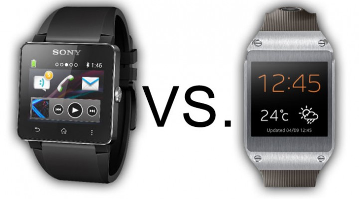 Samsung Galaxy Gear vs. Sony SmartWatch 2 specs