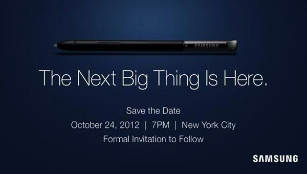 Samsung Galaxy Note 2 NY event follows Windows 8