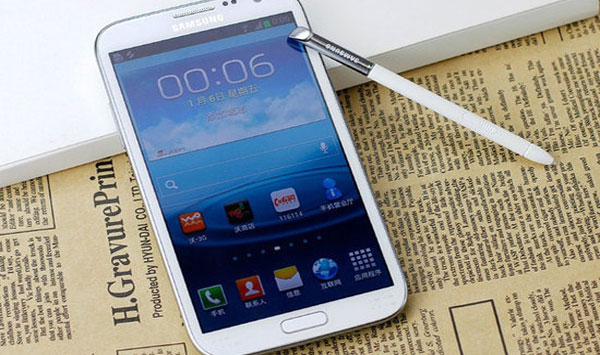 Samsung Galaxy Note 2 is special in east Asia