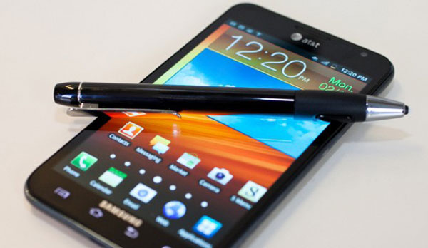Samsung Galaxy Note 2 pen backed by apps