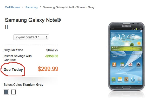 Samsung Galaxy Note 2 US milestone, limited stock