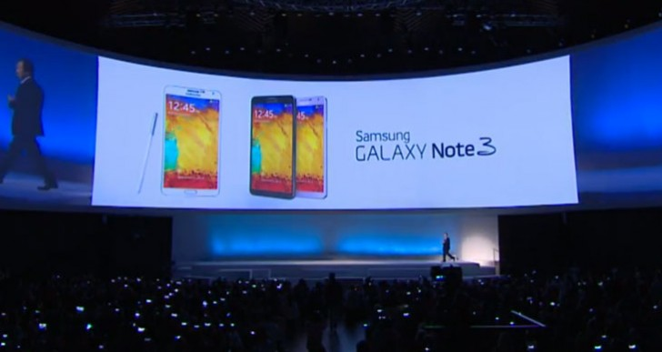 Samsung Galaxy Note 3, Gear and 10.1 given release date
