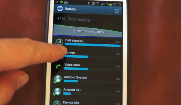 Samsung Galaxy S3 fix for cell standby