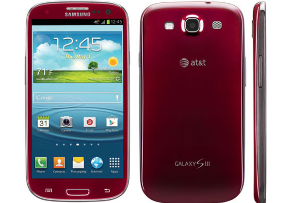 Samsung Galaxy S3 in red with envy