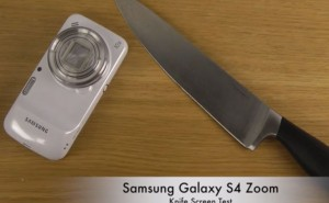 HTC One vs. Galaxy S4 Zoom, Mega 6.3 in knife test