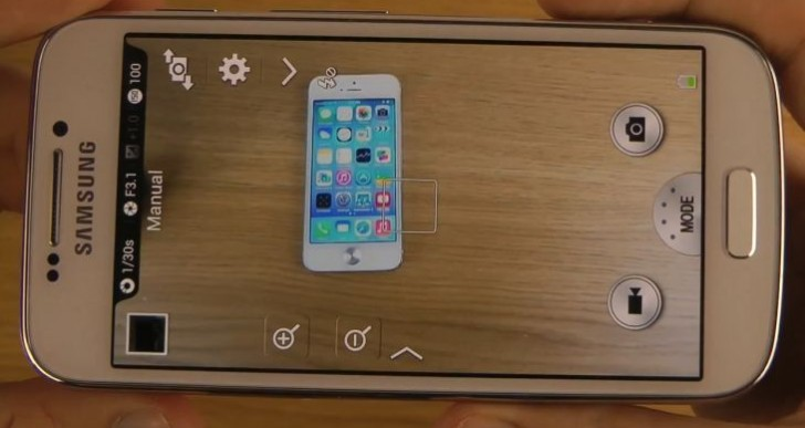 Samsung Galaxy S4 Zoom camera captures iPhone 5